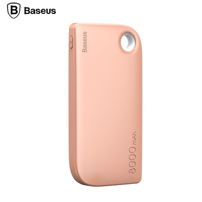 imágenes para De Baseus Dual USB Banco de la Energía 8000 mAh con 2 en 1 Cable Powerbank Cargador de Batería Externa Portátil Para teléfonos móviles