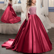 Elegant Girls Princess Dress Wedding Bridesmaid dresses for kids Girl first Communion party birthday Girls dress for photo shoot