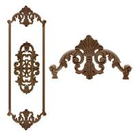 VZLX Wood Furniture Cutout Applique Paint Home Decor Vintage Garden Decoration Maison Accessories Miniatures Ornaments