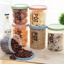 Kitchen Storage Sealed Food Cans Transparent Moistureproof Bottle Preservation Jars Fresh Pot Container