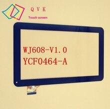 Para SUPRA M121G ostras T12 T12D T12V 3G tablet pc 10.1 pulgadas de pantalla táctil capacitiva panel YCF0464-A WJ608-V1.0