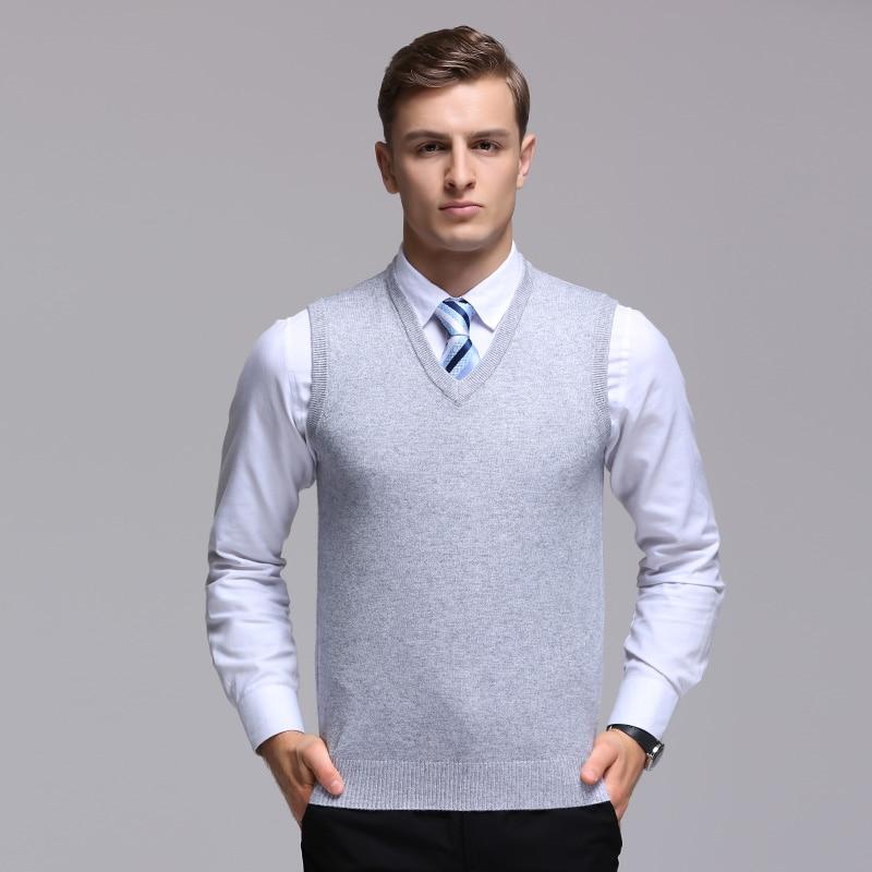 Mouwloze Trui.Hoge Kwaliteit Mannen Kasjmier Trui Vest Herfst Winter Mouwloze