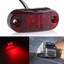 1X 2LED распродажа боковой фонарь свет лампы автомобилей грузовик, прицеп, дом на колесах 10-32 V красный