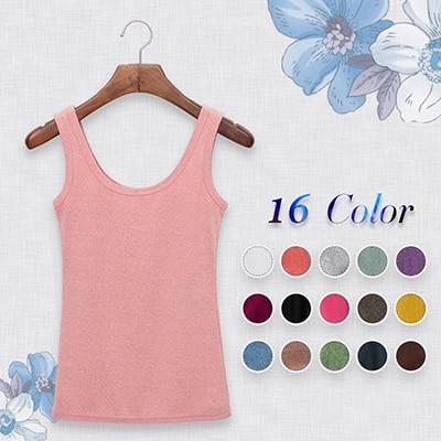 2015 High Quality 16 Colors Summer Style Women Tank Top Camisole Cotton Slim Ladies Thin Vest Bralette 1BX003