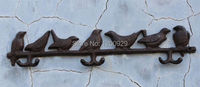 Vintage Country Creative 7 Birds Wall Hanger for Coat/Hat/Towel/Clothes Home Decoration Iron Rack Hook AC 298