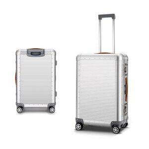 """Image 3 - Sacs de voyage à main en Aluminium, sac à roulettes, 20 """"26 pouces, 100% valise en Aluminium"""