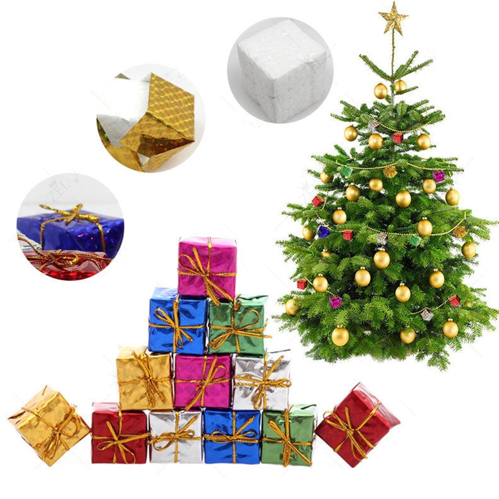 6pcs/pack 4/5/6/8cm Chrismas Tree Ornament Mix Color Mini ...