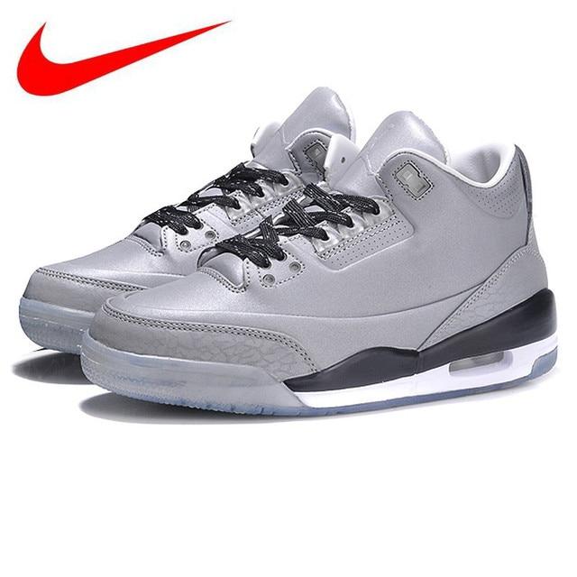 lowest price a4a9b 7a9f7 Original Nike AIR JORDAN 3 5LAB3 REFLECT SILVERREFLECT SILVER-BLACK-WHITE  Men s Origina Basketball Shoes Sneakers 631603