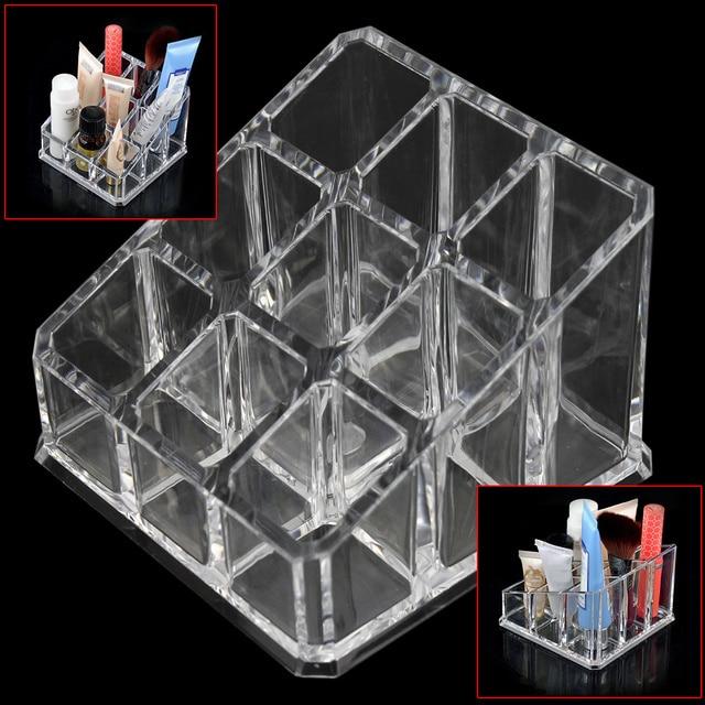 Acrylique transparent 9 Grilles Maquillage Organisateur Brosse Titulaire de  Rouge À Lèvres Cosmétiques Cas De Stockage c61449678b99