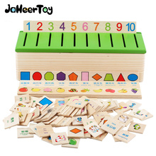 Montessori Toys for Girls Classified Game Digital Fruit Shape Animal Pattern Baby Wooden 3-4-5-6-7 Years Children