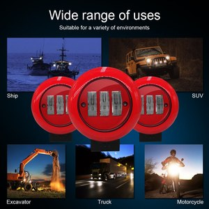 Image 5 - 1 pcs 30 w 6000 k 레드 라운드 작업 빛 스포트 스포트 라이트 오프로드 트럭 트랙터 suv 운전 램프 4000lm 플럭스 레드 라운드 작업 빛