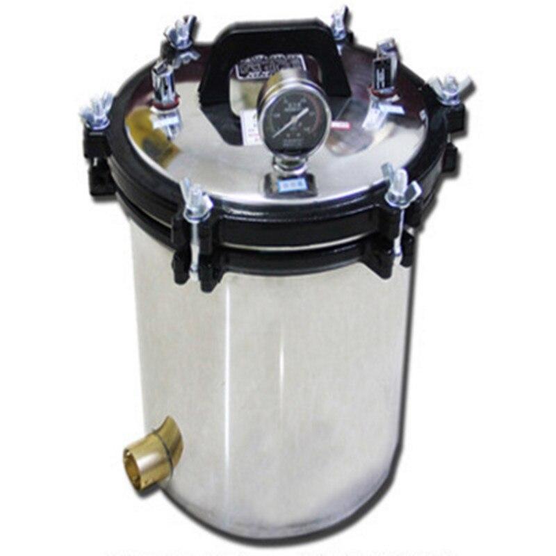 Portable High Pressure Steam Sterilization Cylinder Pot 18L Capacity Sterilizer Run-dry Protection Medical Sterilizing Pan Pot