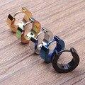 Tide Men Black Men Earrings Ear Button Earrings Wholesale Trade Smooth Plane women Men Jewelry