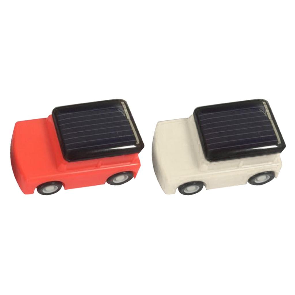 Novelty Kids DIY Assemble Solar Powered Educational Toy Mini Solar Car Red & White Creative Birthday Girl Gift Present for Child