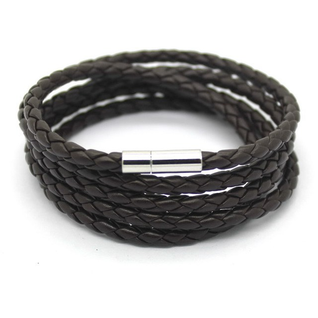 Knittted Leather Bracelet