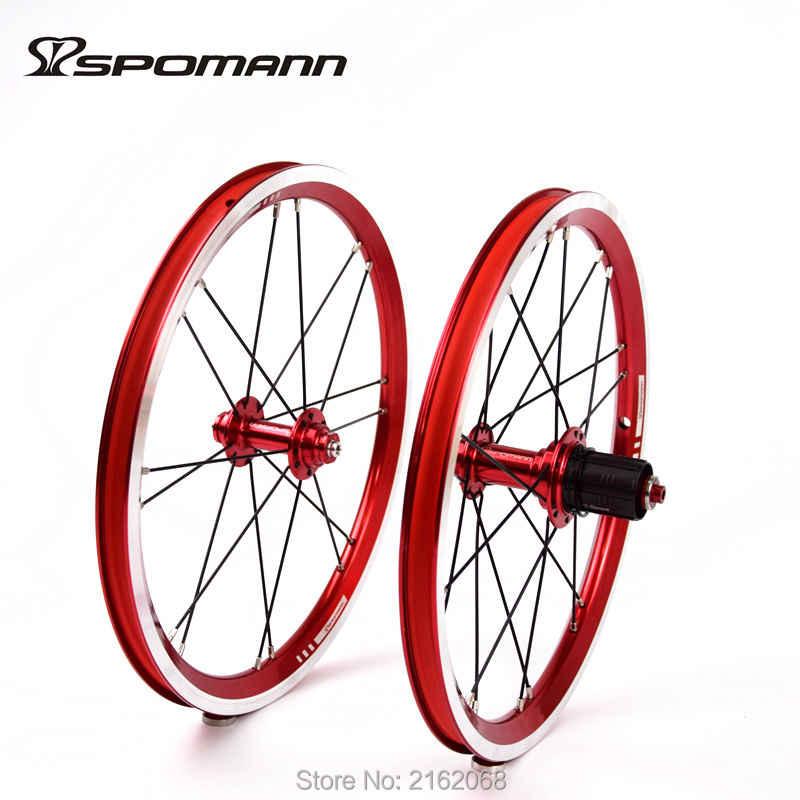 Nouveau SPOMANN 16 pouces vélo pliant alliage V frein BMX vélo pneu jantes roues vtt 16er utilisation pour 11 vitesses roue libre livraison gratuite