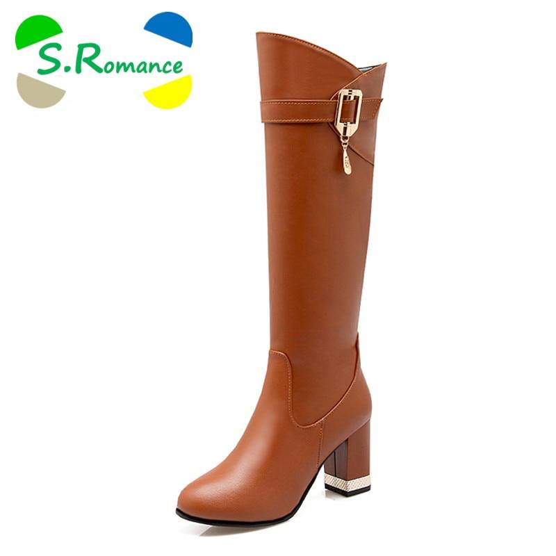 s plus size 31 43 boots square heels