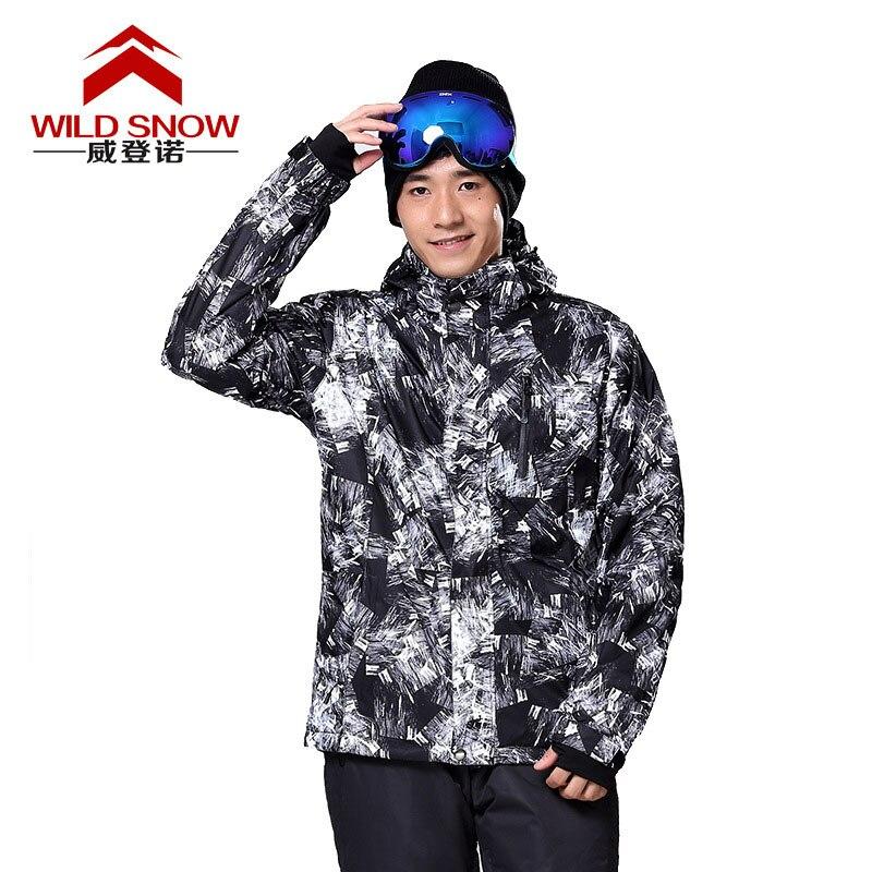 Prix pour Professionnel Sport En Plein Air Coupe-Vent Snowboard Vêtements Hommes de Ski de Neige Veste Imperméable Hiver Chaud Ski Randonnée Manteaux PYJ806
