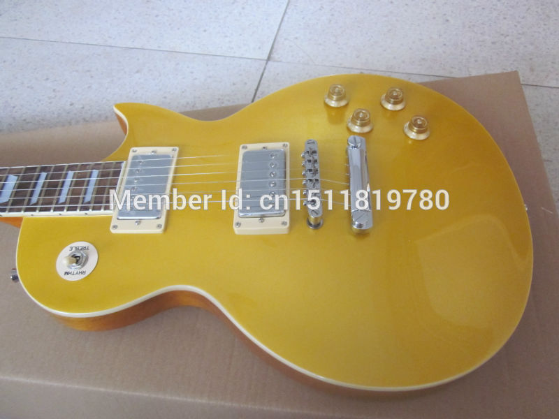 Electric guitar  Wholesale new gib standard 1956/1957 gold top guitar/oem lp guitar with tremolo/guitar in china цены онлайн