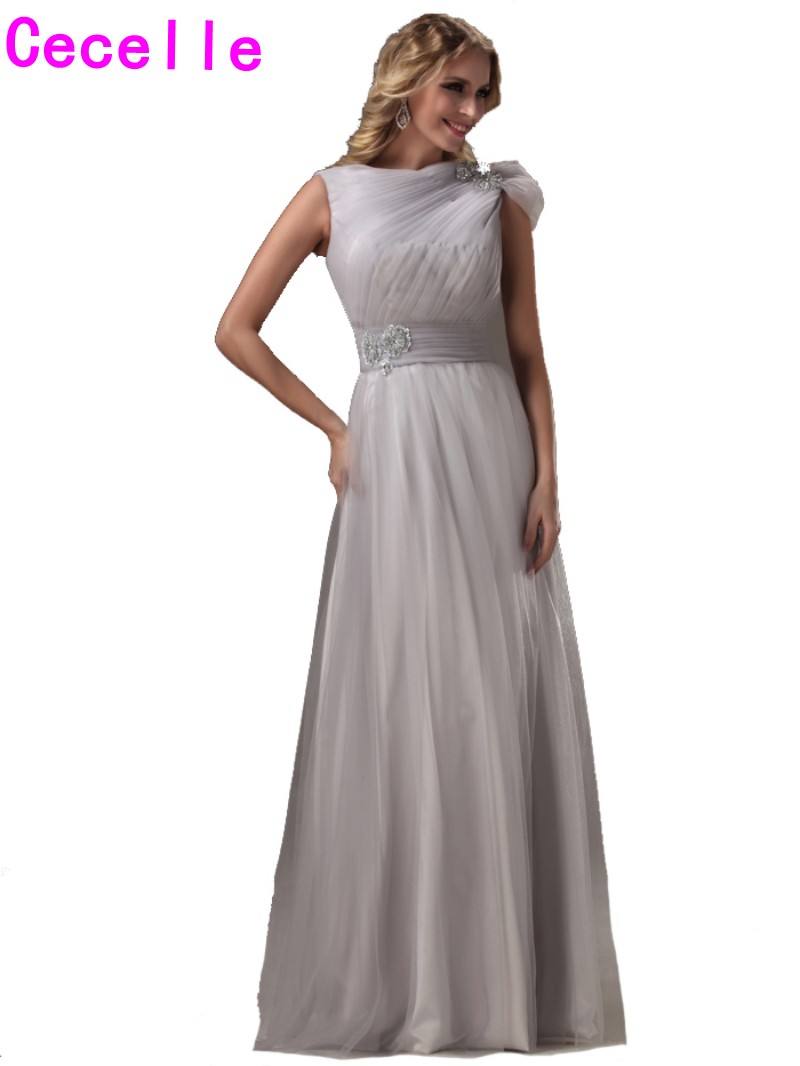 2017 real silver long bridesmaids dresses modest a line pleats 2017 real silver long bridesmaids dresses modest a line pleats tulle country rustic formal wedding bridesmaid robes party gowns in bridesmaid dresses from ombrellifo Image collections