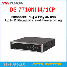 Hikvision 16CH NVR with 4 SATA 16 POE DS-7716NI-I4/16P Embedded 4K SMART VCA alarm Recording at up to 12 MP