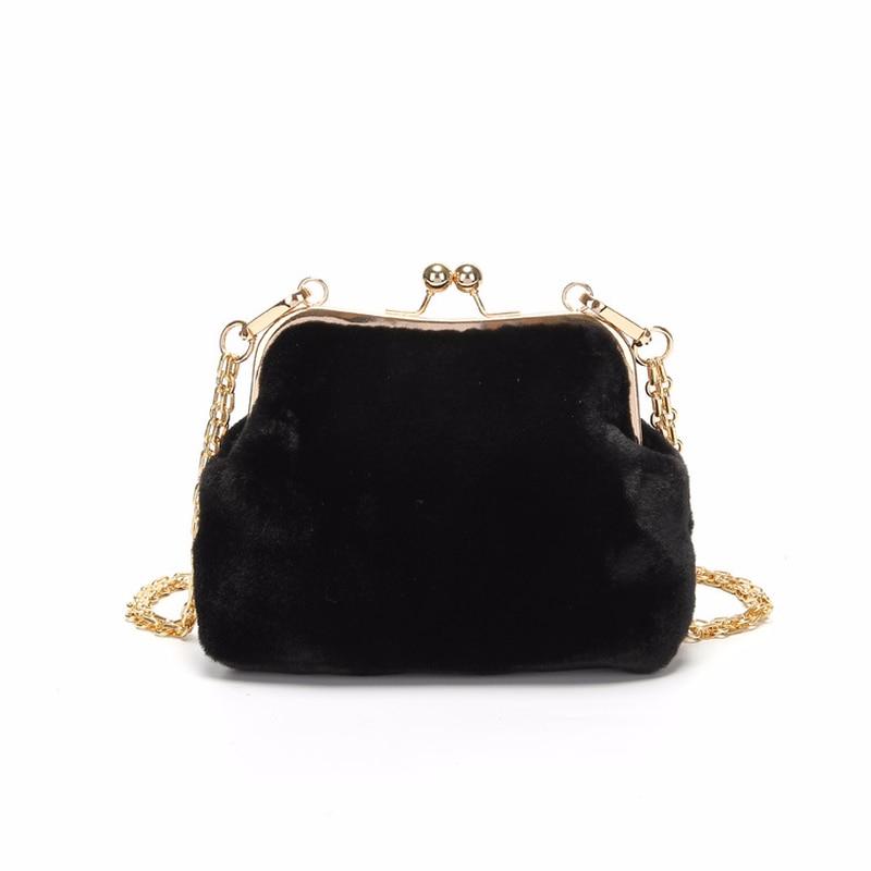 9980d8bd9c0f Модная новая велюровая женская сумка на плечо с цепочкой, Осень-зима 2018, женская  сумка-мессенджер в стиле ретро, бархатная маленькая сумка-к.