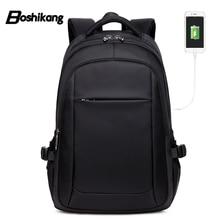Boshikang 15.6 Inch Men USB Charging Business Backpacks Men Waterproof Laptop Sc