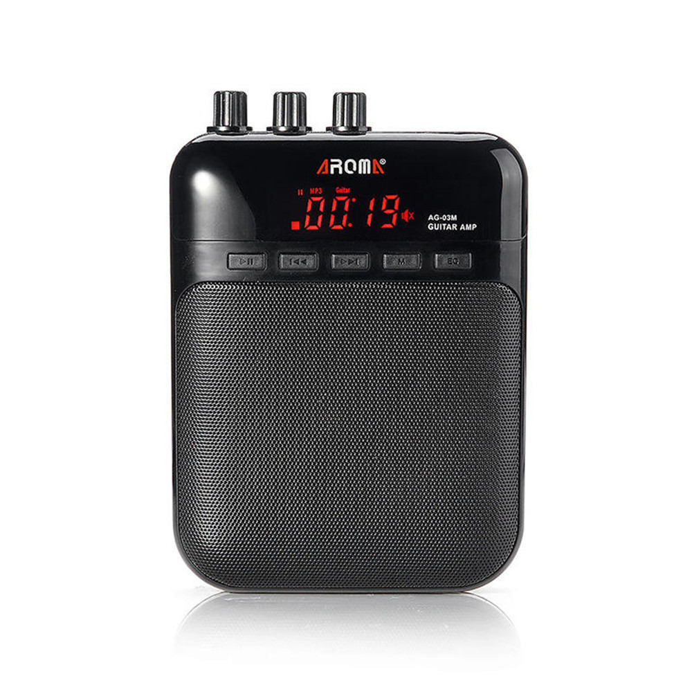 AG-03M Guitar Amp Great For Practice With Clean and Distortion Sound Micro SD Card Slot Mini Microphone in USB Cable Power