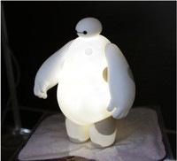 New Big Hero 6 Baymax 18CM LED Night Light Lamp White Table Lamps Bedroom Kid Gift