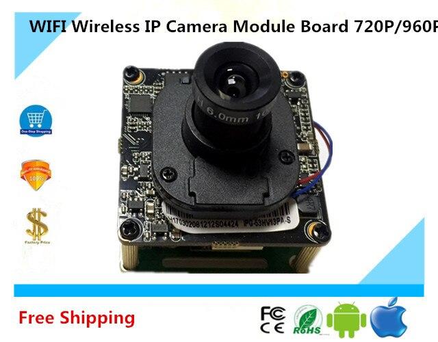 imágenes para Placa Del Módulo de WIFI Cámara IP Inalámbrica 720 P/960 P ONVIF de 32G TFCard audio bidireccional con IRC NightVision P2P Móvil Survillance