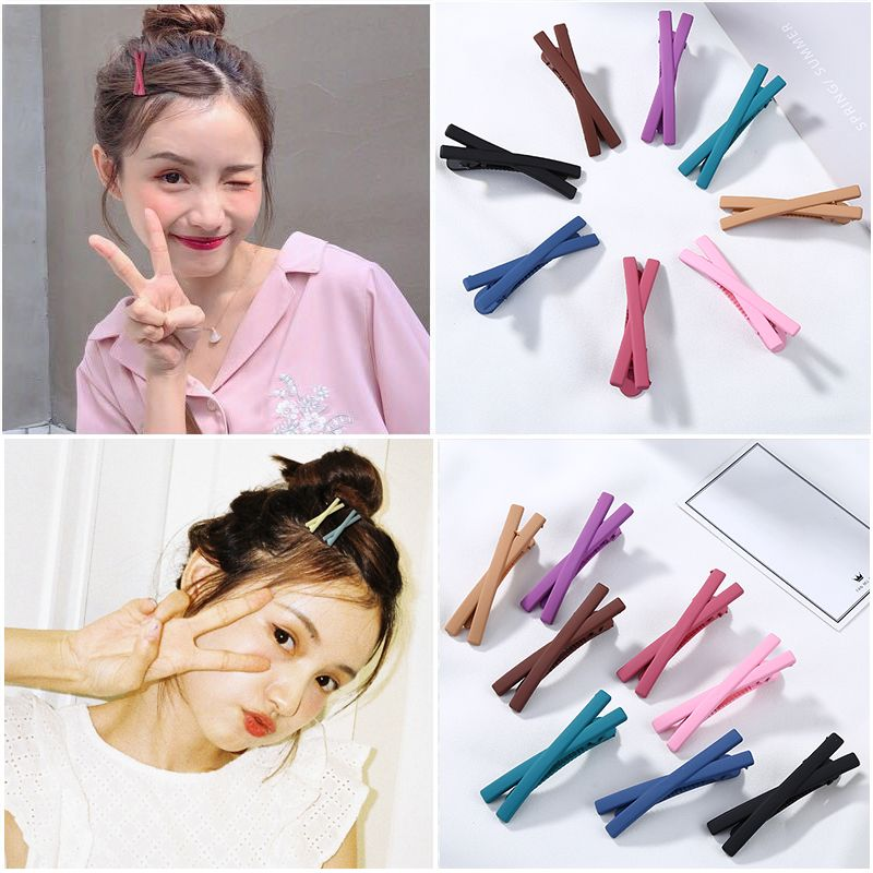 New Women Girls Cute Colorful Cross Scrub Hairpins Sweet Hair Ornament Barrettes Hair Clips Headband Fashion Hair Accessories