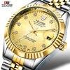 TEVISE Men Mechanical Watches Calendar Automatic Watch Men Diamond Business Causal Male Watches Luxury Waterproof Wristwatches