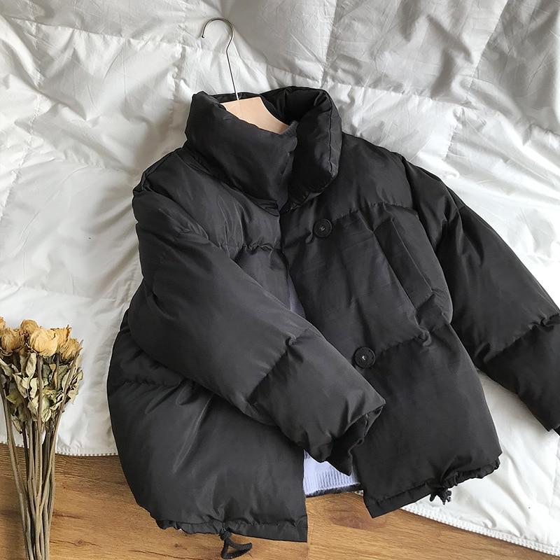 CamKemsey Thicken Women Parkas 18 New Casual Turtleneck Loose Down Jacket Female Warm Cotton Padded Winter Coat Women 16