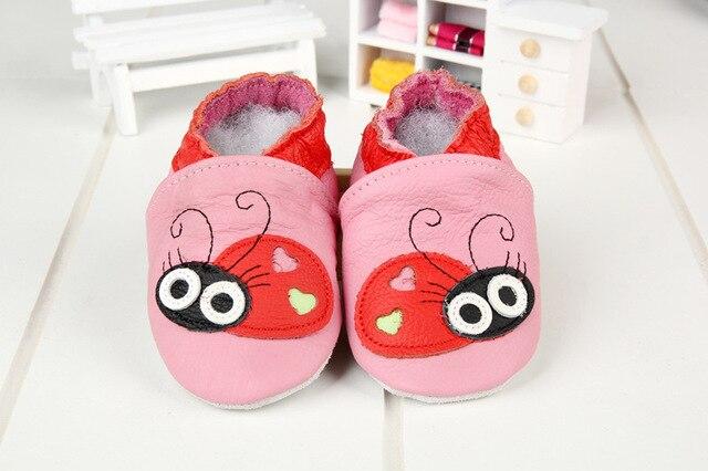 Bébé rouge fille rose rouge Bébé coccinelle en cuir chaussures bébé fille 2d23db