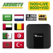 France Arabic IPTV TX3 mini 1 month Free IP TV French Full HD Morocco Subscription Box 4K Belgium Turkish