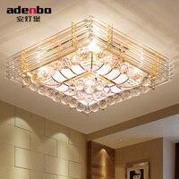 Top Qualité Moderne LED Plafonniers Avec Boules de Cristal Et Or Couleur Pour Salon Chambre Éclairage (ADB2623-50)