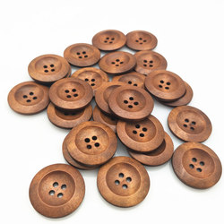 25 pcs 25mm 4 holes natural wood pattern sewing wood buttons natural wood DIY Clothing Sewing Decorative 7NK245-1