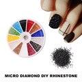 1 Micro Caja del Diamante BRICOLAJE Uñas Arte 3D Decoración de La Joyería Pedrería de Cristal Posterior Plana del Hotfix Rhinestone Cosméticos