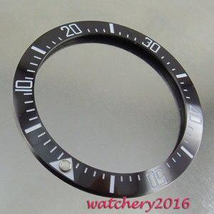 Image 3 - 39.9mm marcadores luminosos preto cerâmica moldura minuto marcadores inserir relógio ajuste movimento automático relógio masculino moldura