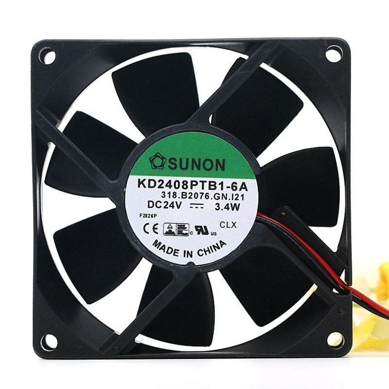 New SUNON  Built-in Axial Folw Fan KD2408PTB1-6 Double Ball Fan 2.9W Cooling Fan 8025