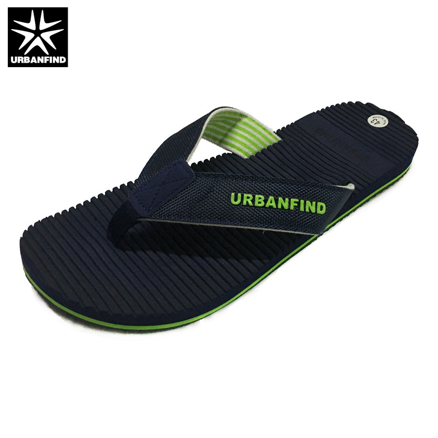URBANFIND Breathable Light Men Casual Summer Slippers Big Size 41-46 Man Leisure Flip Flops For Beach / Home Blue Brown jyrhenium big size 34 46 men s casual