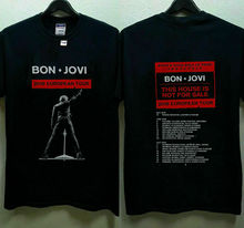 New Bon Jovi 2019 European Tour With Dates T-Shirt  Summer Short Sleeves Cotton top tee