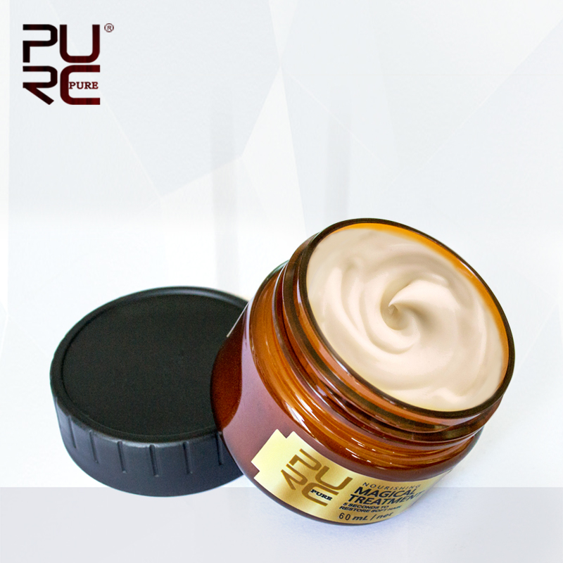 11.11 PURC Hot Sale 60ml Magical treatment mask 5 seconds Repairs damage restore soft hair for all types of hair mask hair care|Hair & Scalp Treatments|   - AliExpress