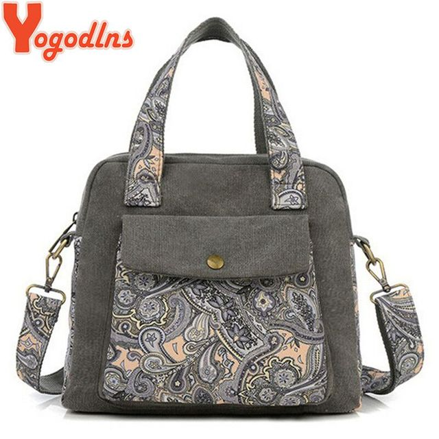 17ab691a589b1 2016 New Retro Women S Handbag Canvas Flower Bag Cute Women Messenger Bags  Fashion Shoulder Crossbody