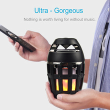 ФОТО glitter lamp waterproof bluetooth speaker, flame atmosphere lamp wireless speaker portable led light for all smart phones