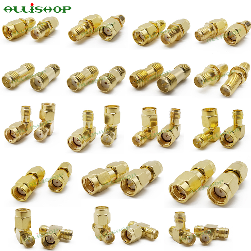 ALLiSHOP 18 Type SMA Connector Adapter SMA RP SMA Male And Female RF Coax Connector Converter For WIFI Antenna / FPV Drone