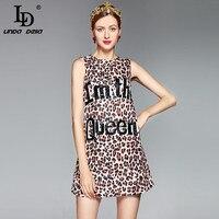 High Quality 2017 Designer Summer Dress Women S Sleeveless Tank Letter Beading Crystal Button Vintage Sexy
