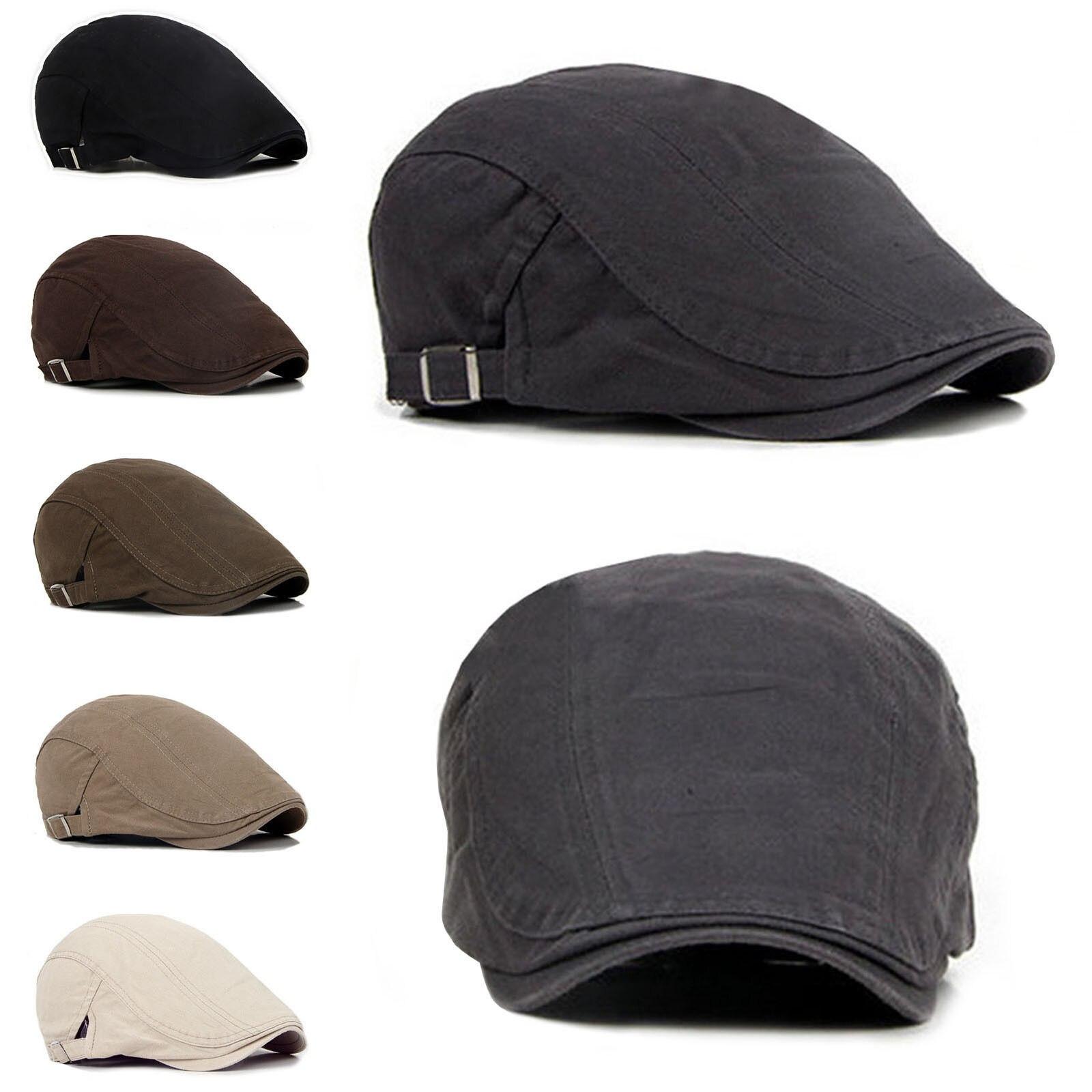 Новинка, мужские шапки-береты, Кепка для гольфа, вождения, защита от солнца, плоская кепка, модные хлопковые береты, кепка s для мужчин, повседневная остроконечная Кепка, козырьки, Casquette, шапки