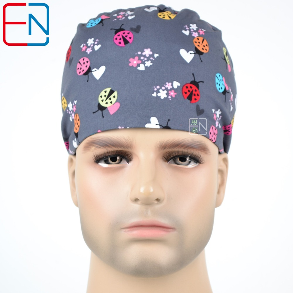 Hennar Nursing Scrub Caps Hospital Medical 100% Cotton Scrub Caps Lab Clinic Medical Surgical Scrub Caps For Doctor Nurse Unisex