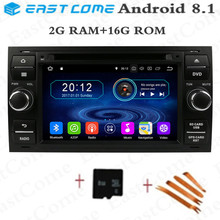 Quad 4Core Android 8.1 Car GPS Navigation for Ford Mondeo Connect Kuga Focus 2 S C MAX,steering wheel ,4G,WJFI Car Radio Player steering wheel cover for ford mondeo mk4 2007 2012 s max 2008 ford focus 3 2015 2018 kuga 2016 2018 custom made steering braid